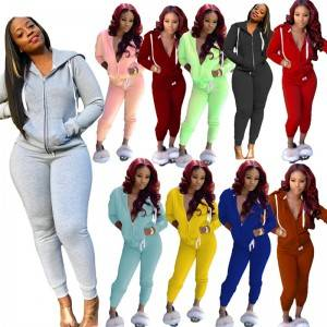 5XL Hoodie Tracksuit Women Oversized Two Piece Set Polyester Cotton Fleece Bulk Low MOQ