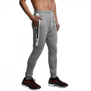 Men's Jogger Pants Sweatpants Casual Athletic Trousers Cotton Terry for Gym Running