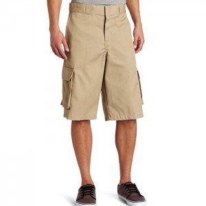 Mens Cargo Shorts 13 Inch Loose Fit Twill