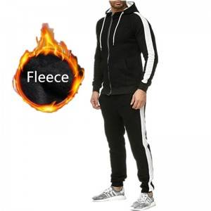 Men Sweat Suit Tracksuit Sport Hoody Joggers Fleece Thick Fashion