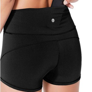 Yoga Shorts With Pockets Sexy Nylon Spandex Workout Gym