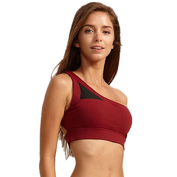 Factory directly supply Cotton Leggings For Women - Recycle Sport Bra Single Shoulder Fitness Summer – Westfox