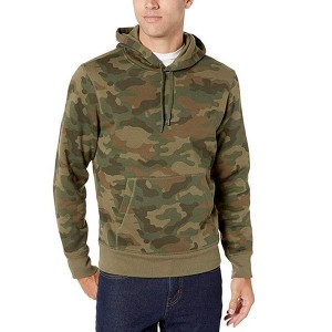 Mens Hooded Fleece Sweatshirt Camouflage Wholesale