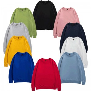 Pullover Sweatshirts Overized Plain Casual Crew Neck Colorblock Cheapest