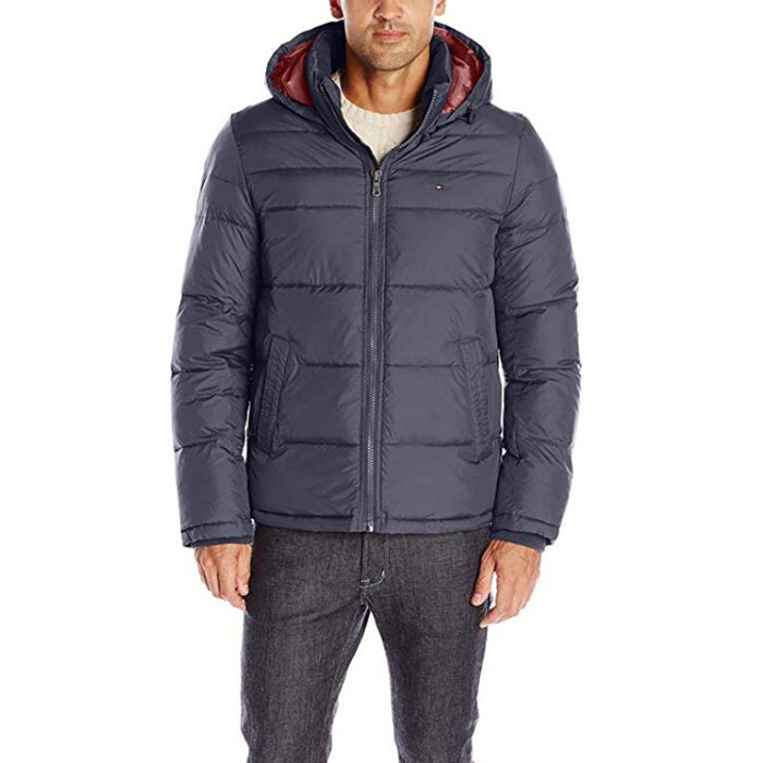 Wholesale Cotton Quilted Jacket - Men's Classic Hooded Puffer Jacket – Westfox
