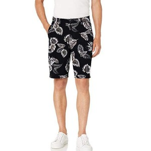 Printed Cargo Shorts Cotton Zipper Pocket