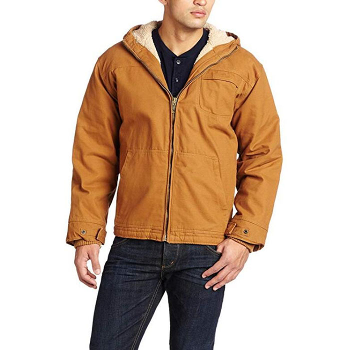 Wholesale Cotton Quilted Jacket - Men's Sanded Duck Sherpa Lined Hooded Jacket – Westfox
