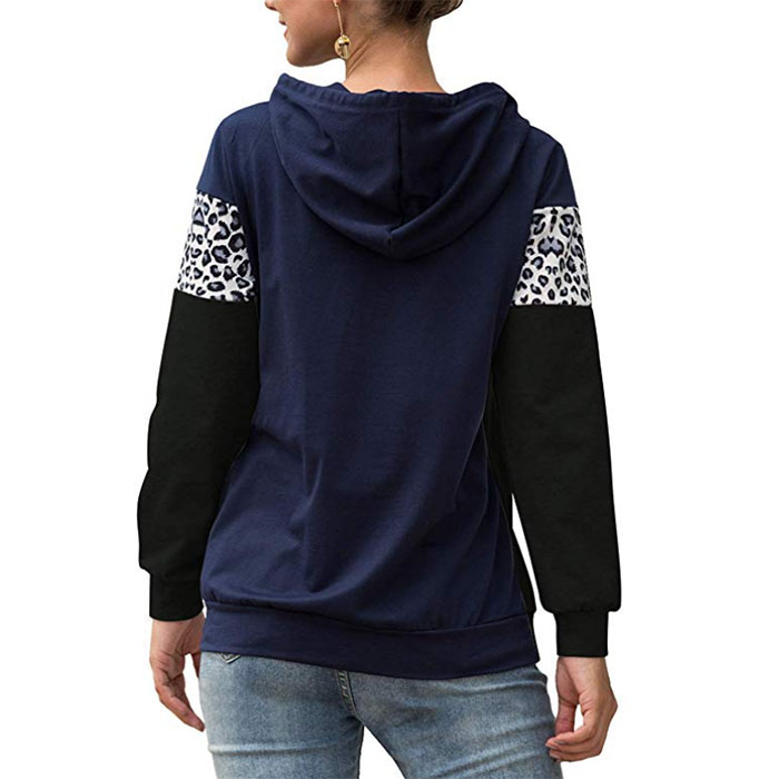 Hot sale Factory Cycling Wear - Leopard Print Patchwork Pullover – Westfox