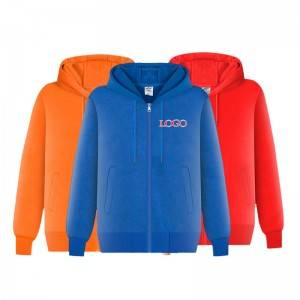 Men Hoody Oversize Zip Up Autumn Casual Athletic Solid Color