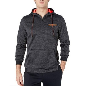 Wholesale Drawstring Fleece 12 Zip Hoodie