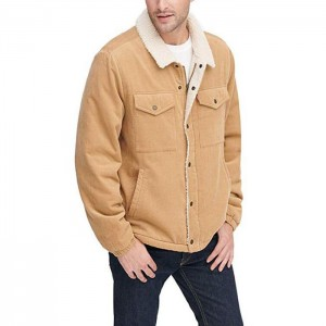 Men's Corduroy Sherpa Lined Trucker Jacket