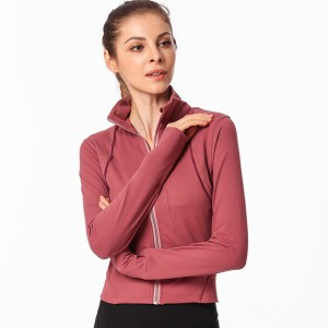 Women Sport Jacket Windproof Zipper Fitness 300g ATY