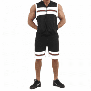Sleeveless Hoodies And Shorts Tracksuit Two Piece Custom Logo Wholesale