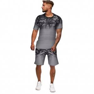 Mens Track Suit Summer Hoodies Shorts Printed New Design Wholesale Stock
