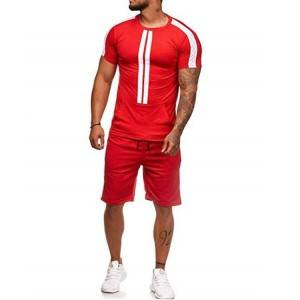 Mens Tracksuit Kangaroo Pocket Shorts Sports Stripe Casual LOW MOQ
