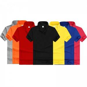 Man Golf Shirt Cotton Polyester Team Club Breathable Outlet Workwear Factory