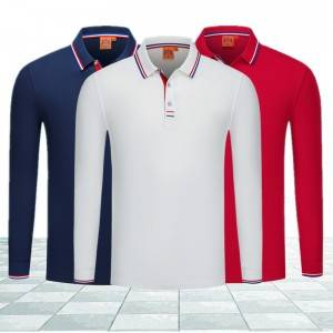 Long Sleeve Polo Shirts Sublimation Business Plain Classic Blank Factory