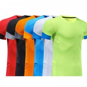 Sports T Shirt Mesh Man Breathable Quick Dry Fitness Workout Custom Logo