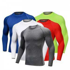 Fitness Shirt Men Sport Blank Running Dry Fit Spandex Athletic Wholesale