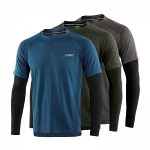 Dry Fit T Shirt Men Workout Running Fitness Cycling Long Sleeve