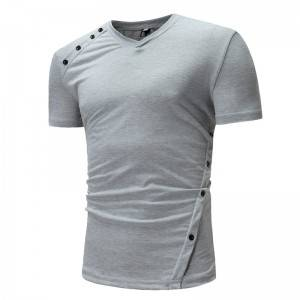 Blank T Shirts Men Custom Logo Promotional Short Sleeve Cotton Supplier