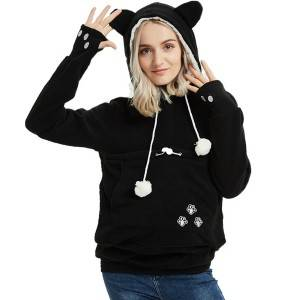 Womens Hoodies Sweatshirts Fleece Big Pocket Long Sleeve