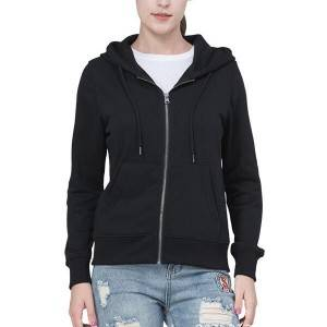 Casual Loose Full Zip Up Hooded Sweatshirt Jacket Women