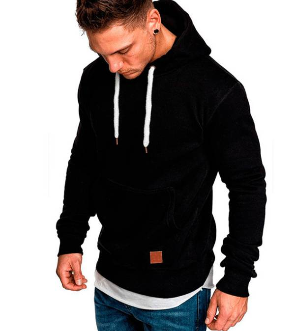Hoodie Sweatshirt For Men Plain Thick Polyester Featured Image