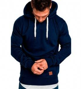Hoodie Sweatshirt For Men Plain Thick Polyester