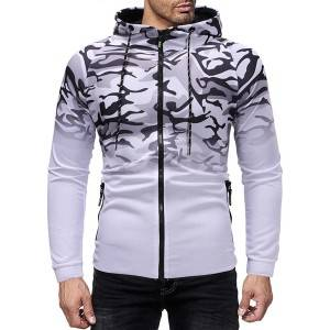 Sweatshirt Hoodie Men Sports 3D Printing Ombre