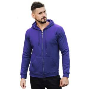 Hip Up Hoodie Men Fleece Zipper CVC 280gsm
