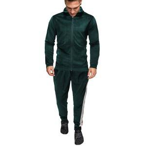 Fleece Tracksuit For Men Sports Soft Zipper