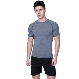 Men Tracksuit Short Set Fitness Short Sleeve