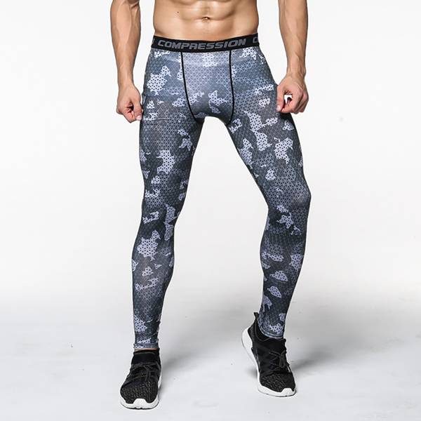 Bottom price Nursing Sports Bra - Men Running Pants Training Printed Workout – Westfox