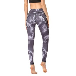 Sport Gym Yoga Pants With Pocket Plus Size Printed