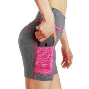 Yoga Shorts With Pockets Fitness Bulk Lycra