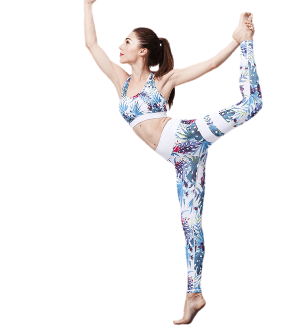 Factory best selling Woman Yoga Pant - Sport Bra And Yoga Pants Set High Impact Floral – Westfox