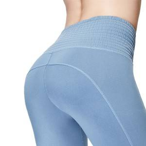 Recycled Yoga Pants Middle Waist Thick Seamless