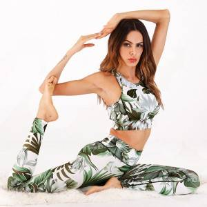 Brand Name Sportswear Set Women Floral Active Digital Printing