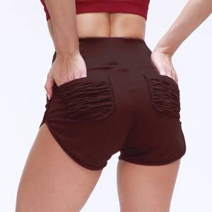 Seamless Gym Shorts Women With Pocket Running