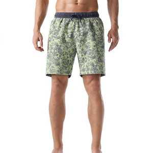 Quick Dry Washed Vintage Bathing Trunks Mens Board Shorts