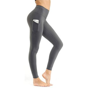 High Waist Workout Yoga Pants með vasa