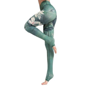 Women Printed Yoga Pants Leggings Training Sport Workouts Foot Fitness Pants