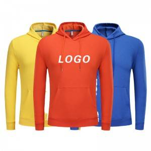 Wool Hoodies For Men Oversized Pullover Kangaroo Pocket Sweatshirt Sports Custom Logo
