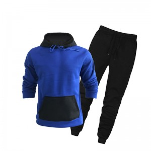 Athletic Tracksuit Men Training Wear Fleece Hooded Long Sleeve Oversize