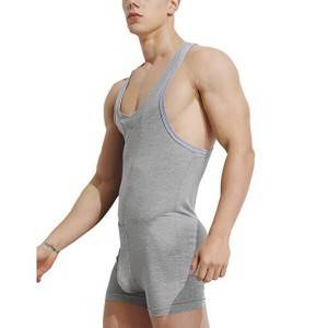 Men Shapewear Jumpsuit Running Homewear One Piece