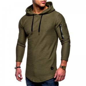 Men Hoodies Slim Fit Casual Sports Long Sleeve Plus Size OEM