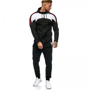 Men Track Suit Zip Up Hoodie Fall Sport Jogging Gym Wear