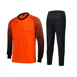 Men's Football Goalkeeper Foam Padded Jersey Shirt & Pants/Shorts