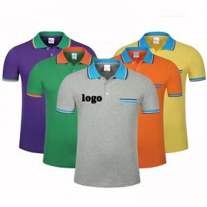 Men's Golf Polo Shirt Custom Wholesale Workwear Design Your Own Logo Factory